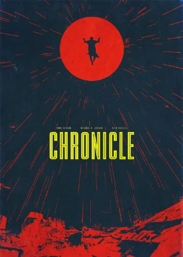 2010's Movie - CHRONICLE RED MINIMAL canvas print - self adhesive poster - photo print